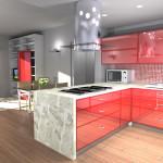 Idea Ristrutturazione 3D - Appartamento 60mq - rendering cucina