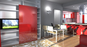 Esempio progetto ristrutturazione appartamento: parete attrezzata