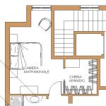 Idea Ristrutturazione - frazionamento appartamento - progetto camera con cabina armadio