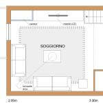Idea Ristrutturazione 3D - Appartamento in mansarda - particolare soggiorno camino