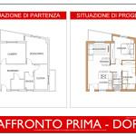 Idea Ristrutturazione 3D - Appartamento 60mq - raffronto prima dopo