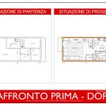 Idea Ristrutturazione 3D - Appartamento in mansarda - raffronto