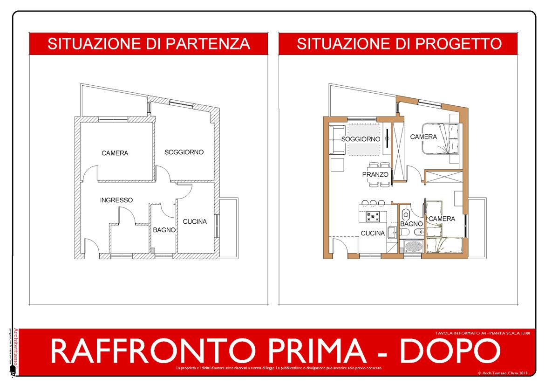 Casa 60 Mq Pianta idea ristrutturazione 3d: anteprima fotorealistica progetto3d