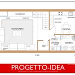 Idea Ristrutturazione 3D - Appartamento in mansarda - Progetto Idea