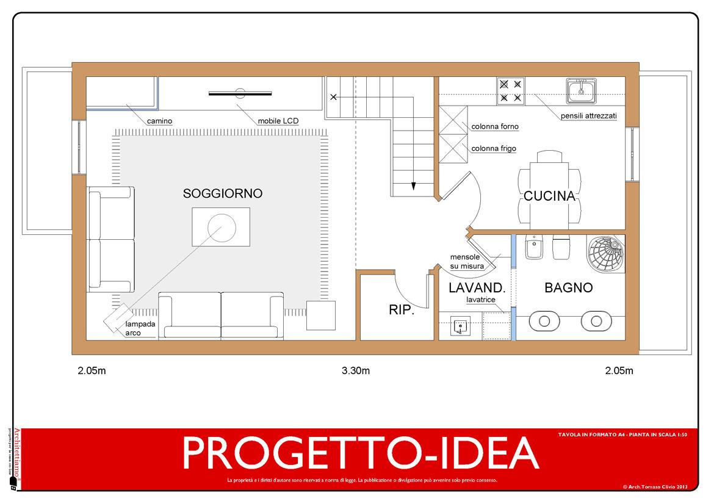 Idea Ristrutturazione 3D Appartamento In Mansarda Progetto Idea #C70404 1170 826 Progettare Una Cucina On Line Gratis