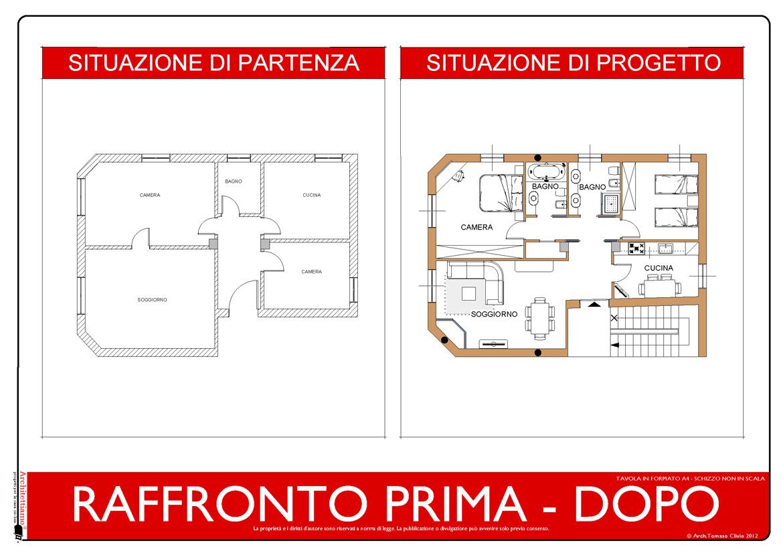 Esempi di disegni e progetti di ristrutturazione architettiamo progetti online - Progetto ristrutturazione casa gratis ...