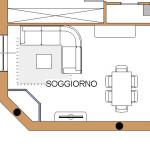 Idea Ristrutturazione - raddoppio bagno - progetto soggiorno