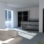 Idea Ristrutturazione 3D - Appartamento grande - Rendering cucina