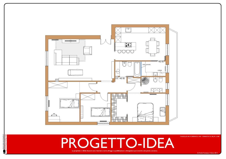Progetto idea a domicilio - Progetto casa 100 mq ...