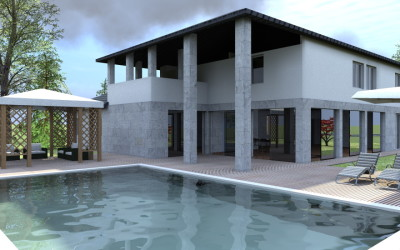 Esempi progetti on line per costruire ristrutturare arredare for Progetto villa moderna