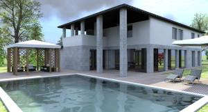 Esempio progetto on-line villa - piscina e gazebo
