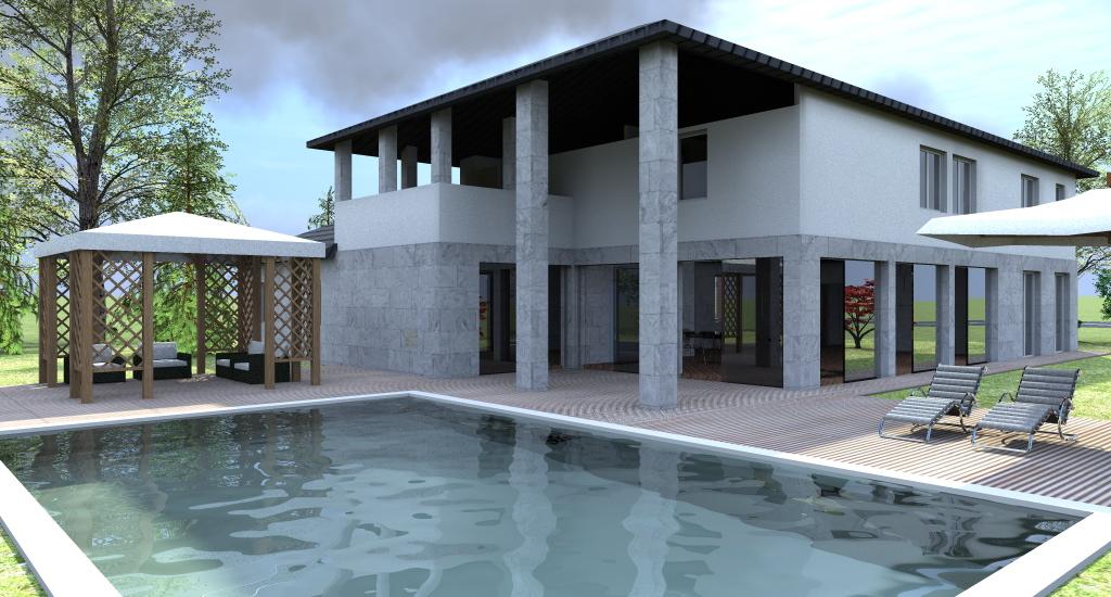 Esempi progetti on line per costruire ristrutturare arredare for Design moderno casa contemporanea con planimetria