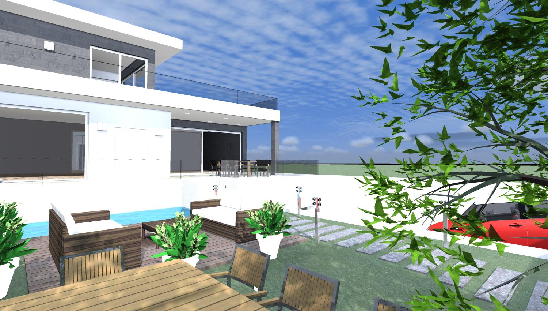 Progetti 3d costruzione esempi di progetti online di for Ville stile moderno