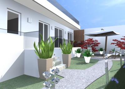 Villa con Giardino moderno