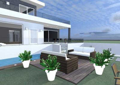 Villa Moderna con Specchio d'acqua