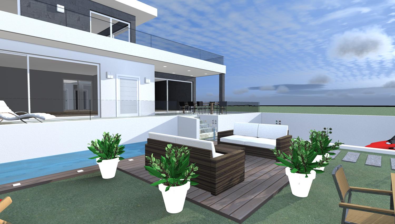 Esempi di progetti 3d di costruzione architettiamo progetti online - Progetto di casa moderna ...