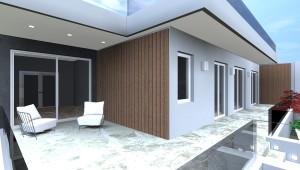 Progetto Casa: Villa con terrazza privata per la camera matrimoniale