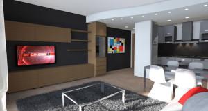Esempio progetto ristrutturazione appartamento: parete tv