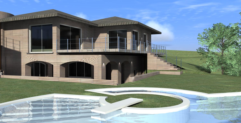 Neat progetti case moderne 3d qk24 pineglen for Progetti villette singole