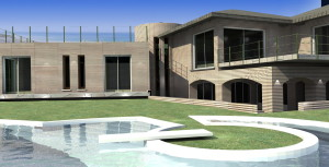 Esempio progetto villa - piscina su misura