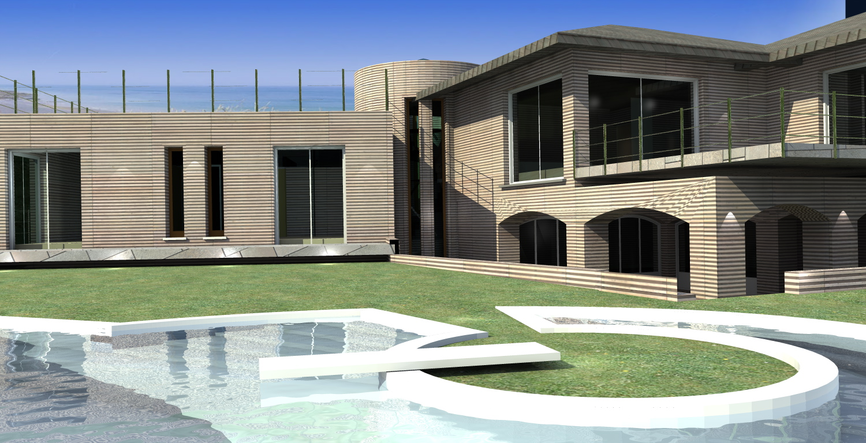 Esempi progetti per costruire ristrutturare e arredare for Ville moderne con piscina