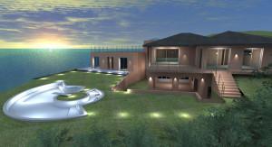 Esempio progetto on-line villa - studio illuminotecnico esterno