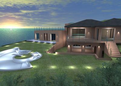 Villa con piscina sul mare