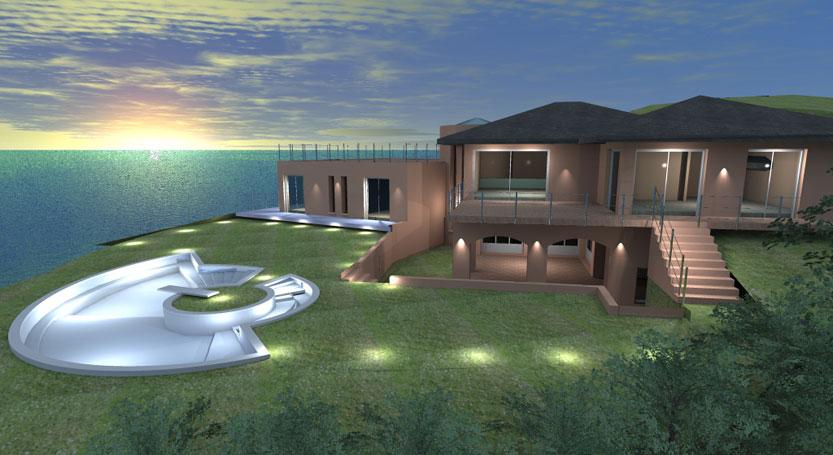 Esempi progetti on line per costruire ristrutturare arredare - Progetti giardino per villette ...