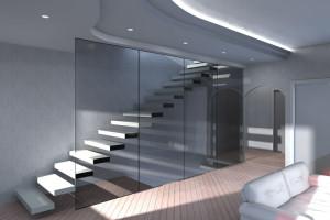 Esempio progetto ristrutturazione appartamento: scala a sbalzo