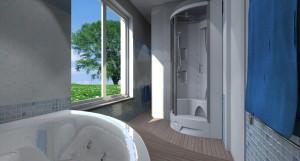 Esempio progetto ristrutturazione bagno vasca vista giardino