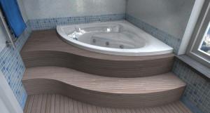 Esempio progetto ristrutturazione bagno vasca idromassaggio incasso teak