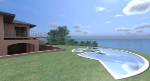 Esempio progetto on-line villa con piscina a picco sul mare