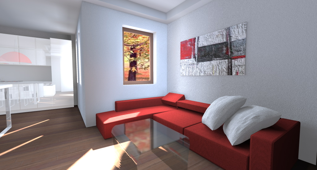 Divano Rosso E Nero : Rendere appartamento confortevole e luminoso architettiamo