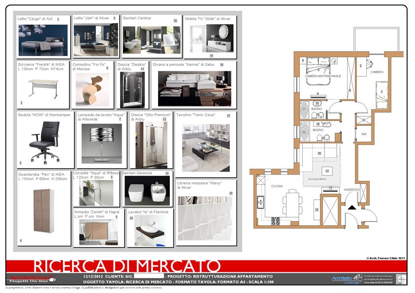 Appartamento confortevole e luminoso esempio di progetto for Disegno di architettura online