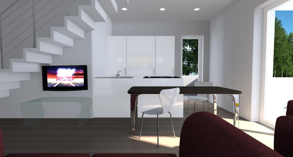 Appartamento su due piani esempio di progetto online for Progettare un salone