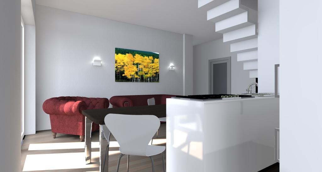 Scala in soggiorno idee per il design della casa - Cucina con soppalco ...