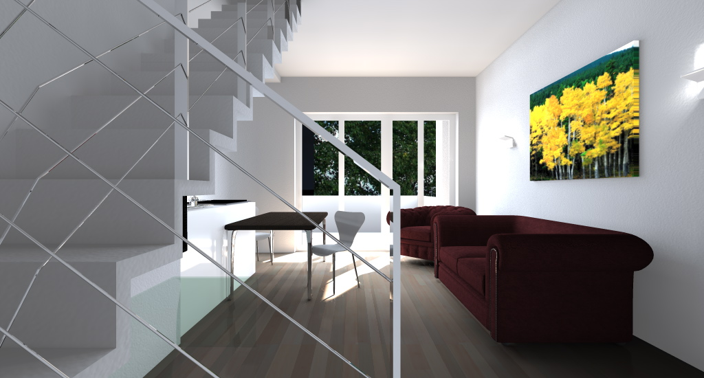 Appartamento su due piani esempio di progetto online for Piani di casa spiaggia stile ghiaia