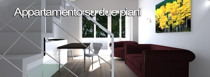 Appartamento su due piani esempio di progetto online Esempi di ristrutturazione appartamento