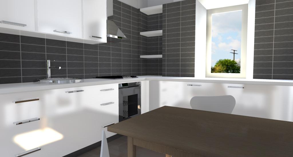 Ristrutturazione di casa vacanze e soppalco - Cucina con soppalco ...