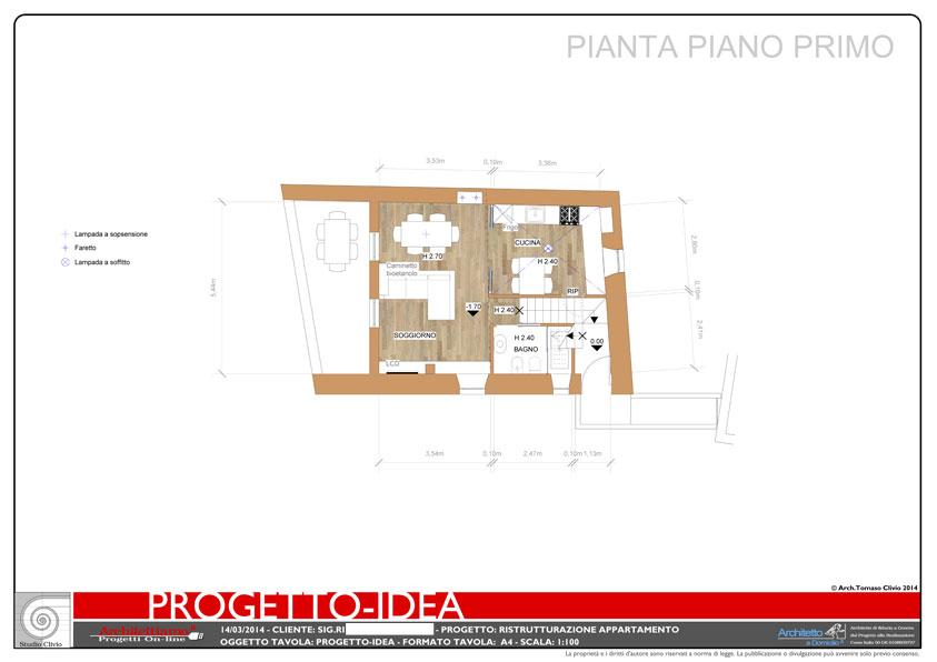 Casa vacanza con soppalco esempio di progetto online for Progettista di piano casa online