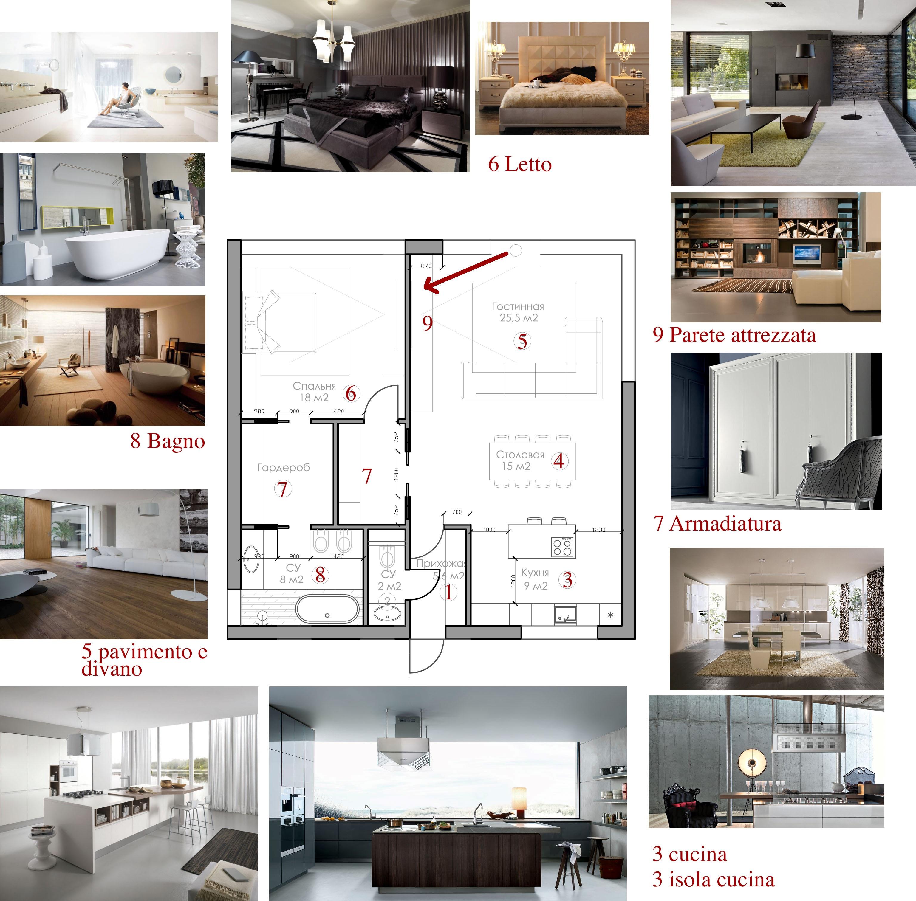 Render per villa esempio di progetto d 39 arredo online for Esempi di arredamento interni