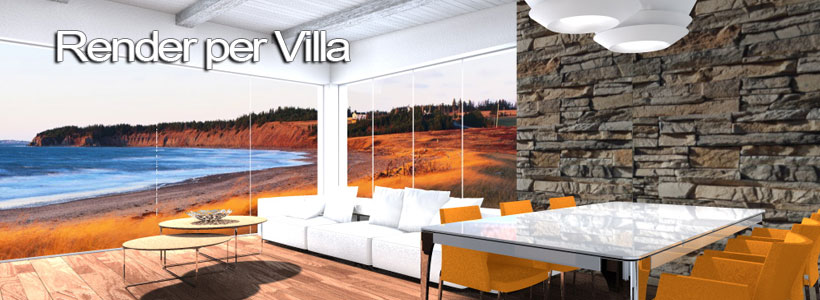 Render di villa 3d architettiamo progetti online for Consulenza architetto online