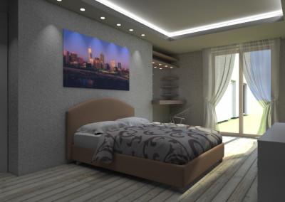Camera con illuminazione led