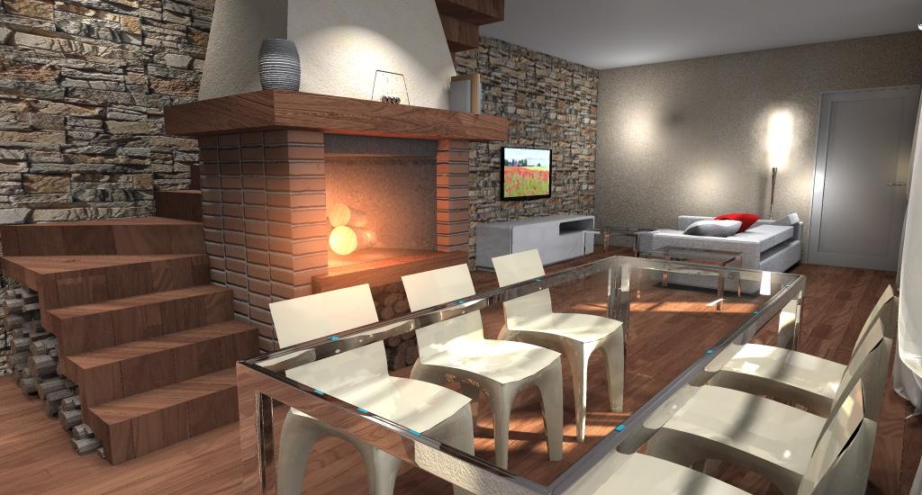 progettazione interni: personalizza il tuo appartamento in base ... - Soggiorno Cucina Con Camino 2