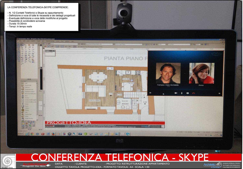 Conferenza telefonica skype architettiamo progetti online for Architetto gratis online