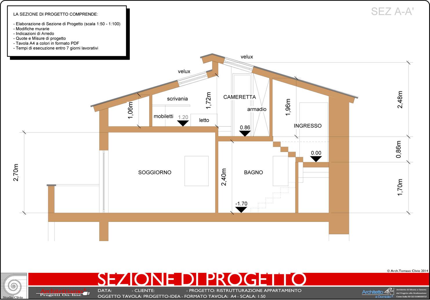 Esempi di Disegni e Progetti di Ristrutturazione - Architettiamo Progetti OnLine