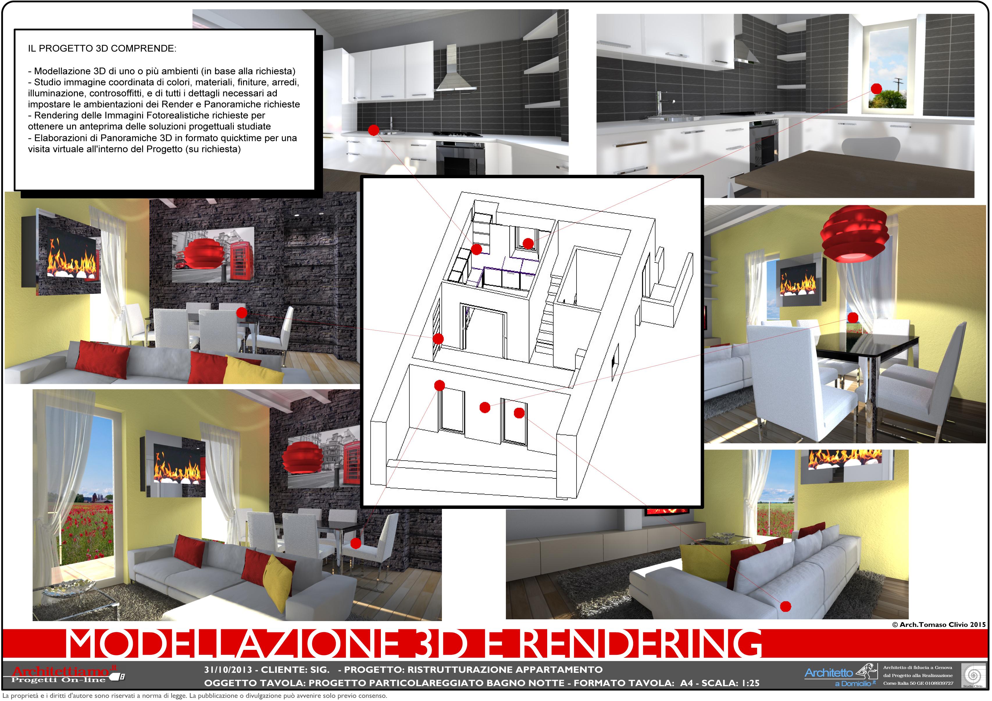 Progetto completo ristrutturazione for Esempi di ristrutturazione appartamento