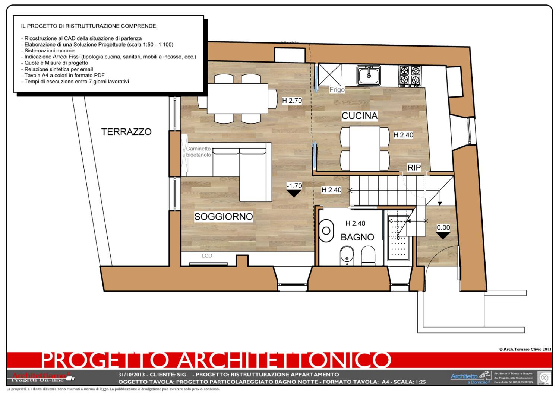 Progetto 2d ristrutturazione architettiamo progetti on line for Ristrutturare casa progetti