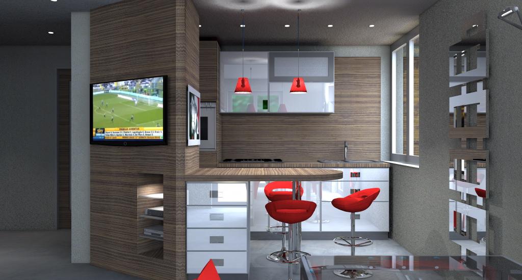 Esempi di progetti 3d di arredare architettiamo progetti for Arredare la cucina piccola