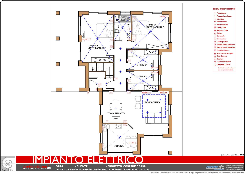Esempi di disegni e progetti di costruzione architettiamo progetti online - Impianto elettrico di casa ...